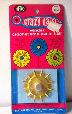 Vintage Crazy Daisy  winder by Hero Mfg Co new in by LuismosGirl, $10.00