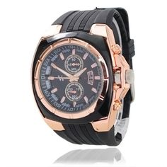This product is elegant V6 wrist watch with hard rubber band. This hot item enjoys great popularity among men and it's also a good choice to your friends as gift. Apart from acting as a common wrist watch, it can display date automaticly for you. Product Description  Features: * Made of durab...
