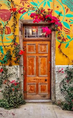 Door in Valparaiso, Chile.