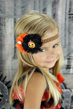 Halloween Headband Ghost Headband Pumpkin by KennasKlippiesBows, $8.50