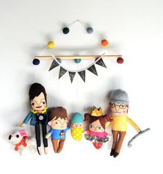 Hey, I found this really awesome Etsy listing at https://www.etsy.com/listing/162571820/wall-hanging-family-of-four-personalized