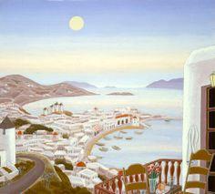 Thomas McKnight, Harbor View- Mykonos
