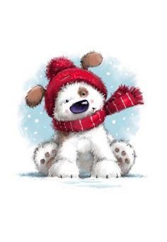 Christmas Animals, Christmas Love, Christmas Pictures, Illustration Noel, Christmas Illustration, Illustrations, Christmas Drawing, Christmas Paintings, Christmas Decorations