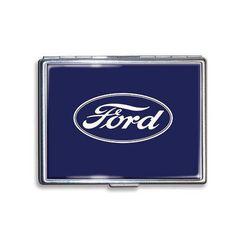 Ford Pflaume Logo US Car Werbung Zigarettenetui Etui Schachtel Cigarette Case