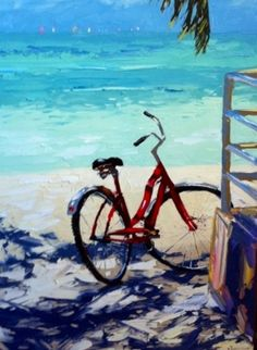 Bicycle at the beach print