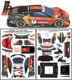 Free Original and Exclusive Paper Models and the Best, Rare and Unusual Free Papercrafts of All the World! Paper Model Car, Paper Models, Nsx Gt, Paper Toys, Paper Crafts, Paper Bat, Dope Wallpapers, Car Drawings, Concept Cars