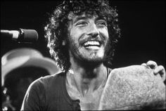 Nebraska is a great record,... and he has always been one of my boyfriends. Look at that smile and that hair.   Bruce Springsteen at The Bottom Line