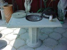 Bar B Que Table Concrete Con Verta Table
