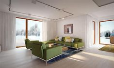Projekt domu Arte 136,91 m2 - koszt budowy - EXTRADOM Sofa, Couch, Outdoor Furniture Sets, Outdoor Decor, Living Room, Home Decor, Houses, Projects, Settee