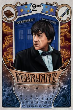 February month for the doctor who 2014 calendar with Patrick Troughton as the doctor. 2nd Doctor by boop-boop.deviantart.com on @deviantART