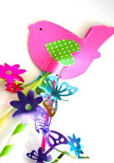 Spring Bird Wand Craft