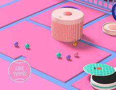 """내 @Behance 프로젝트 살펴보기: """"LINE TeNNIS"""" https://www.behance.net/gallery/44078931/LINE-TeNNIS"""