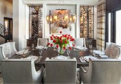 Hamptons Inspired Luxury Home Dining Room Robeson Design