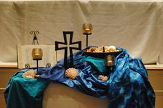 The altar at the contemporary service at Dunwoody UMC from @David Machon