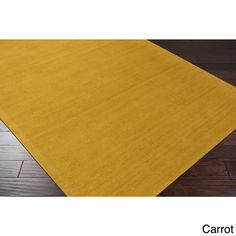 Hand-loomed Torres Casual Solid Wool Area Rug (5' x 8') (