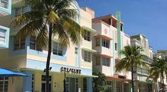 The Art Deco Historic District is located on Miami Beach between 5th Street and 23rd Street, along Ocean Drive, Collins Avenue and Washington Avenue.