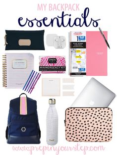 Prep in your step: my backpack essentials school bag essentials, college bag essentials,