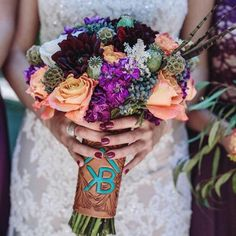 Fully tooled bouquet wrap I did for a customer. Looked great! Wedding Bells, Fall Wedding, Rustic Wedding, Our Wedding, Dream Wedding, Wedding Stuff, Wedding Photos, Wedding Signs, Wedding Country
