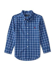 Ralph Lauren Childrenswear Boys 2-7 Checked Shirt  Blue 6