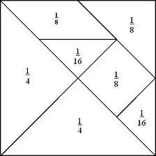 tangram fractions #math #edteach #tangrams