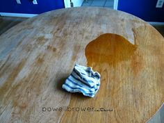 how to restore teak table