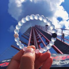 lokai bracelet: represents the balance of being humble in your highs and hopeful in your lows. Proceeds go to charity