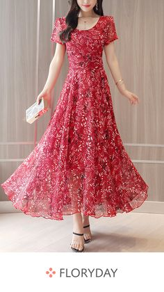 How+to+wash:+cold+gentle+machine+wash Sleeve+Length:+long+sleeve Occasion:+date Dress+Silhouette:+empire+line Pattern+Type:+print Material:+chiffon Season:+autumn+/+spring+/+summer Collar+&+neckline:. Elegant Maxi Dress, Chiffon Maxi Dress, Dress Skirt, Dress Up, Floral Print Maxi Dress, Lace Maxi, Pretty Outfits, Pretty Dresses, Beautiful Dresses