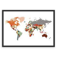 Poster Mapa Mundi de @juzimmermann | Colab55