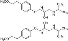 Struktur von (±)-Metoprolol