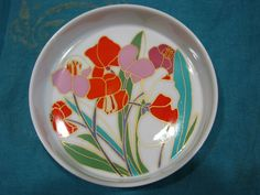 Rosenthal studio-line Bowl Plate – vintage 1970s Design Bauer – Décor Spring Flowers – Colourful Poppy Blossoms White German Porcelain China von everglaze auf Etsy