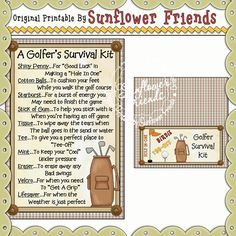 Golfer Survival Kit - Click Image to Close Gag Gifts, Cute Gifts, Survival Supplies, Survival Kits, Survival Food, Survival Prepping, Game Stick, Golf Outing, Golf Party