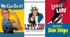 Some many options for Propaganda Art! World War I era