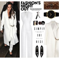 Night Out Jumpsuit: Victoria Beckham by junglover on Polyvore featuring Victoria Beckham, Emilia Wickstead, Yves Saint Laurent, Christian Louboutin, Larsson & Jennings, Chanel and Fashion's Night Out