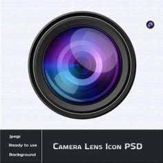 Camera Lens Icon PSD   24PSD