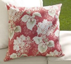 Mae Floral Outdoor Pillow | Pottery Barn    Coming to my house so soon!