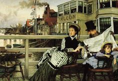 ab. 1874 James Tissot - Waiting for the Ferry at the Falcon Tavern