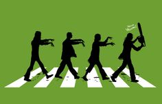 Zombies on Abbey Road T-Shirt Designed by SOULTHROW