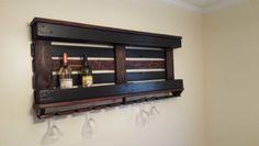 Wine Rack with One Pallet & Repurposed Wood