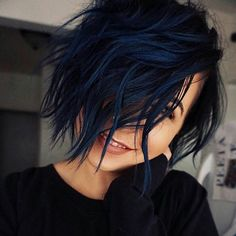WEBSTA @behindthechair_com * Black Blue Ink ... by @girrlscout