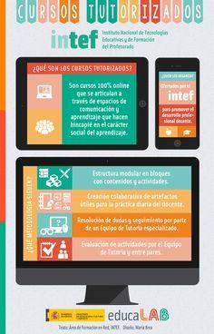 Infografia ¿Qué son y qué metodología siguen los cursos autorizados online del INTEF?
