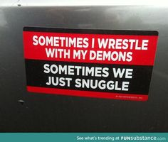 Wrestling with my demons