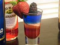 Red White and Blue Shot Recipe