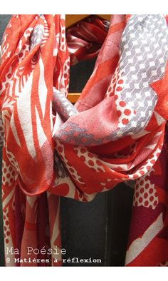 Ma Poesie Foulard Sousbois #rouge #red #mapoesie #frenchfashion