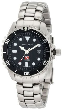 Momentum Women's 1M-DV05B0 M1 Pro Stainless-Steel Bracelet Watch Momentum. $174.95. Water-resistant to 660 feet (200 M). Quality Japanese-quartz movement. 316l-stainless-steel case; gloss-black dial; day function. Case diameter: 32.38 mm. Mineral crystal