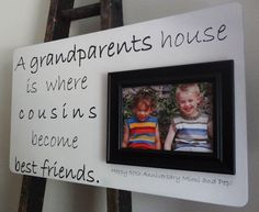 custom 22 x 13 picture frame anniversary grandparents grandma grandpa cousin family gift 5800