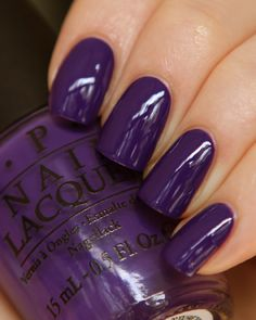 Nagellack OPI Nail Lacquer Polish Do You Have This Color in Stock-holm for sale online Get Nails, Love Nails, How To Do Nails, Pretty Nails, Style Nails, Opi Nail Polish, Nail Polish Colors, Purple Nail Polish, Dark Purple Nails