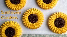 We're past the peak of sunflower season, but the colors of these sunflower cookies would make them the perfect addition to a fall cookie assorment. Wouldn't ...