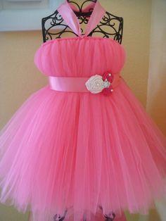 Bright pink Princess tutu dress. $40.00, via Etsy.