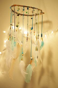 Dreamcatcher Mobile Earth and Sky by TheBigSkyPlace on Etsy, $68.00