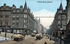 Victoria Road Dundee with Hill Town To The Right, Wellgate Steps To The left Dundee City, Historical Photos, Great Britain, Old Photos, Scotland, Street View, Victoria, Explore, History